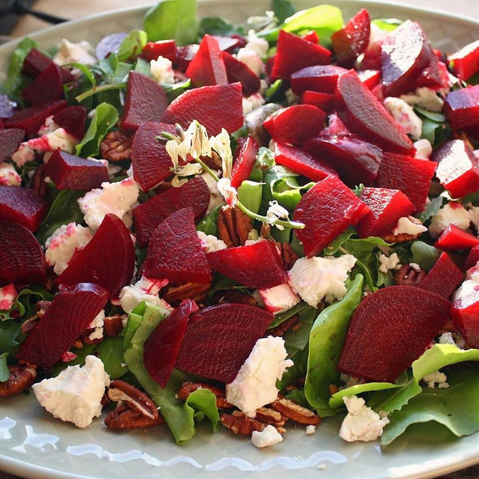 Roasted Beet Salad With Fresh Goat Cheese, Arugula ...