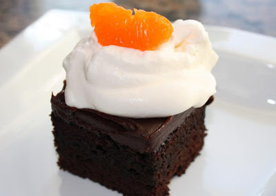 Dark Chocolate Blood Orange Cake