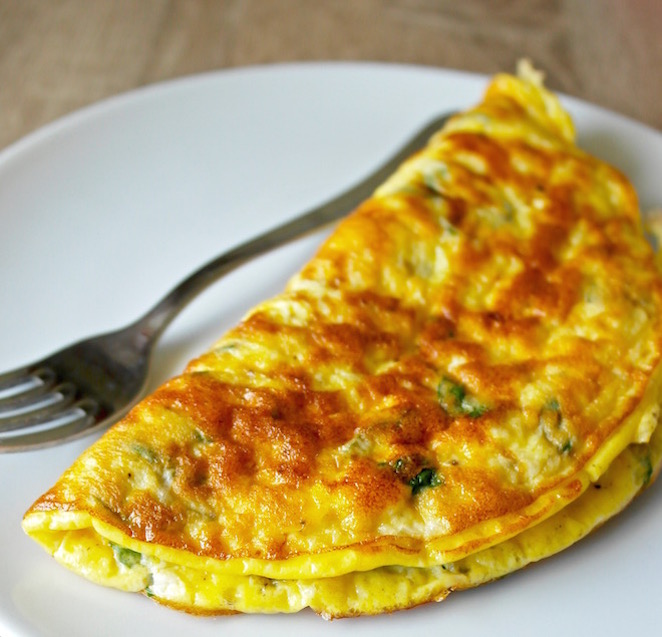 Greek Omelette with Feta and Mint