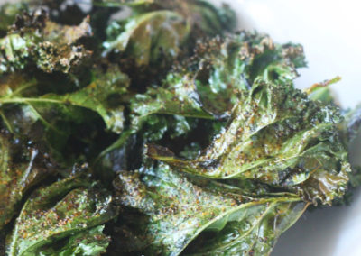 Oven Baked Spicey Harissa Kale Chips