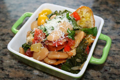Late Summer Ribollita with Braised Butter Beans and Gremolata Infused Olive Oil