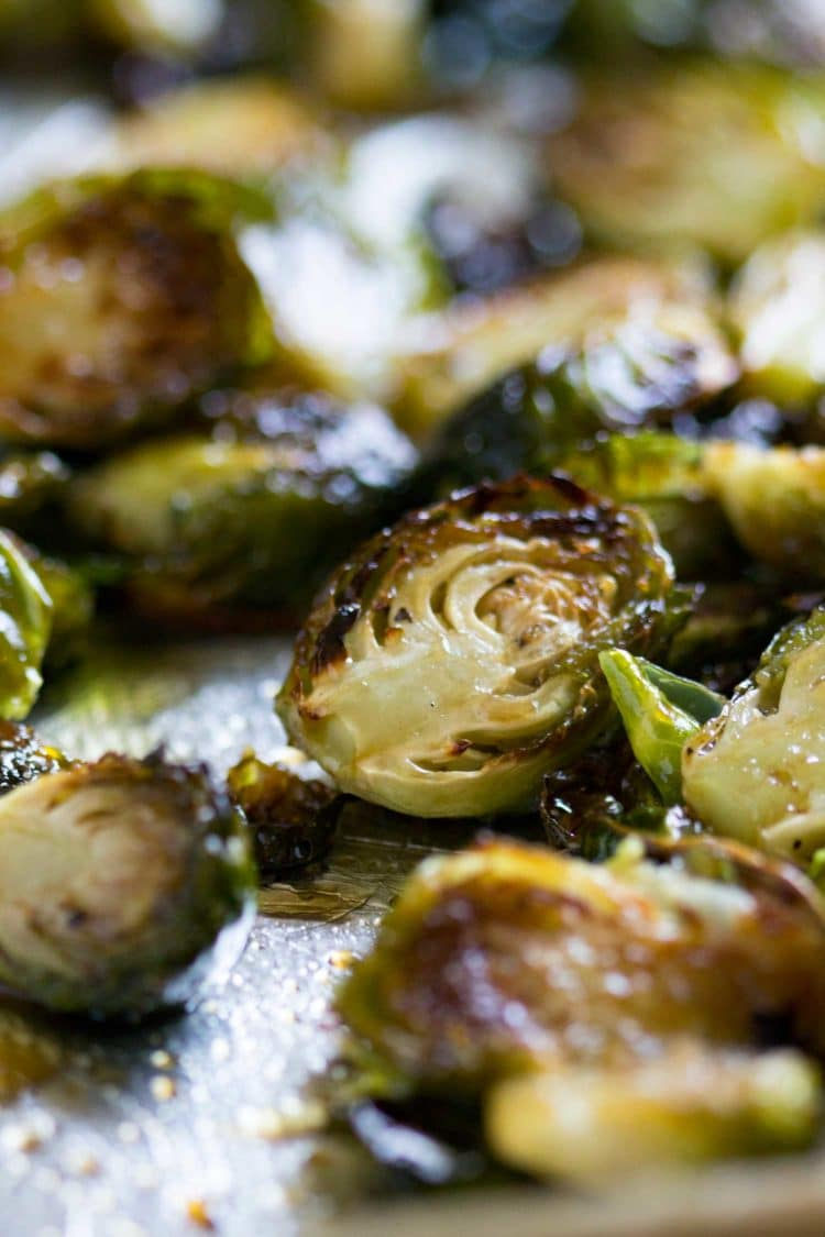 Honey Balsamic Roasted Brussel Sprouts