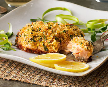 Mustard Crusted Salmon Fillets