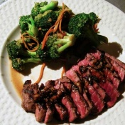 Grilled Sirloin Steak Tips with Espresso Balsamic