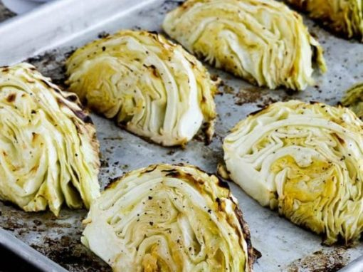 Low-Carb Roasted Cabbage