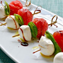 Watermelon Caprese Appetizer